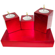 3-Cube Candle Holder Set
