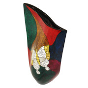 Curve Vase – Abstract Metalic Butterfly