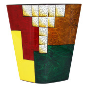 Flat Vase – Geometric Abstract