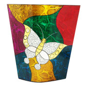 Flat Vase – Abstract Metalic Butterfly