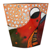 Flat Vase – Abstract Bird