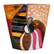 Flat Vase – Abstract Sun