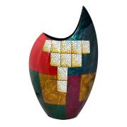 High Cresent Vase – Geometric Abstract
