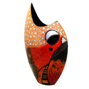 High Cresent Vase – Abstract Bird