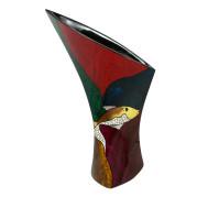 Calla Lily Vase – Abstract Metalic Gold Fish