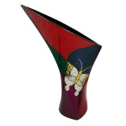Calla Lily Vase – Abstract Metalic Butterfly