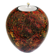 Lacquer Egg Shape Candle Holder Large – Metallic Confetti