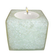 Cube Shape Poly Crystal Candle Holder – Ice