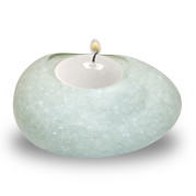Egg Shape Poly Crystal Candle Holder – Ice