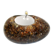 Egg Shape Poly Crystal Candle Holder – Chocolate