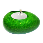 Egg Shape Poly Crystal Candle Holder – Emerald