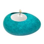 Egg Shape Poly Crystal Candle Holder – Aquamarine