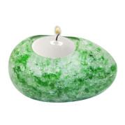 Egg Shape Poly Crystal Candle Holder – Jade