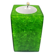 Rectangle Shape Poly Crystal Candle Holder – Emerald