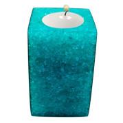 Rectangle Shape Poly Crystal Candle Holder – Aquamarine