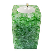 Rectangle Shape Poly Crystal Candle Holder – Jade
