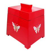 Lacquer Trapezium Jewelry Box – EGGSHELL BUTTERFLY ON RED