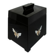 Lacquer Trapezium Jewelry Box – EGGSHELL BUTTERFLY ON Black