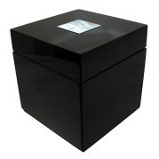 Square lacquer jewelry Box – Mother Of pearl On Black