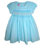 Aquamarine floral smocked dress