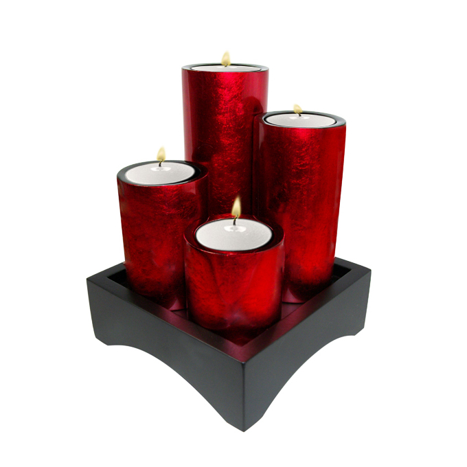 Lacquer candle holder sets