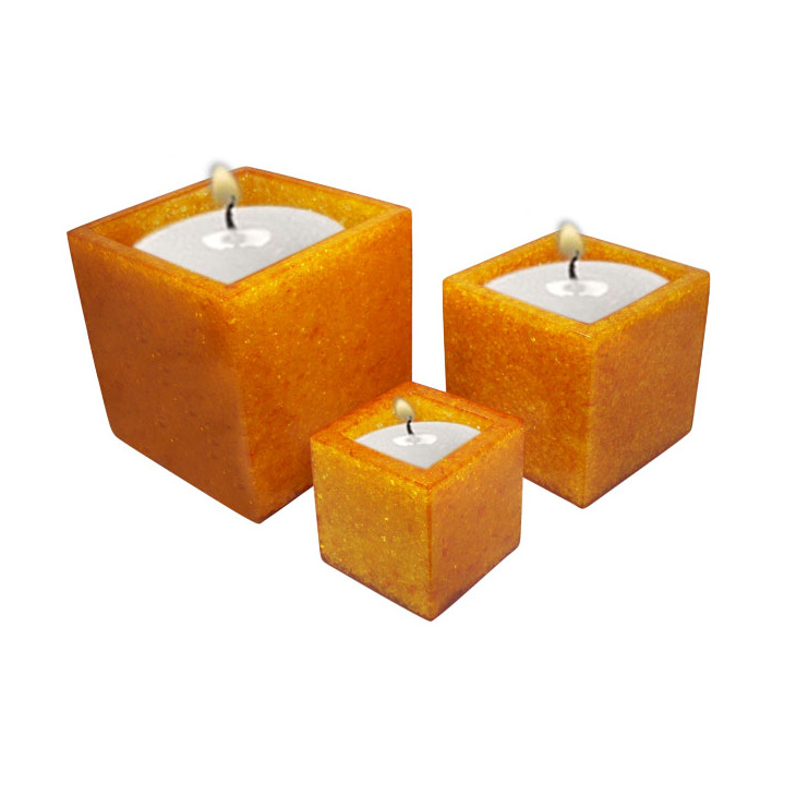 Poly crystal candle holder sets